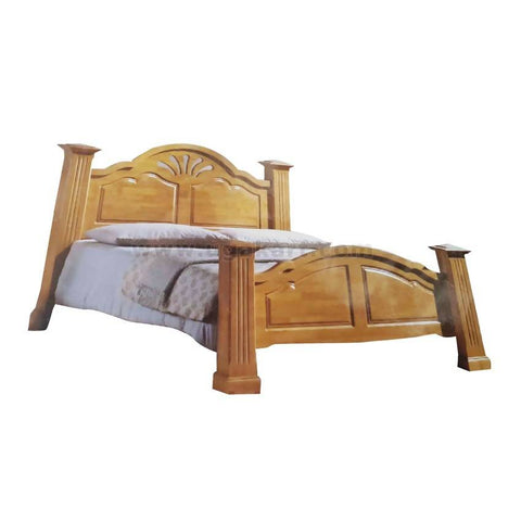 Classic Cream Wooden Double Bed