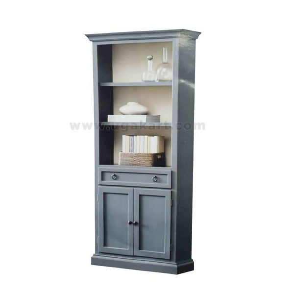 Grey Shelf Caboured With One Drawer'S And Two Doors-Width 3Feet/ Length 6Feet