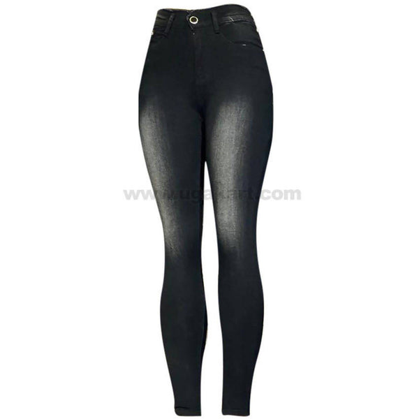 Black Faded High Waisted Women's Jeans