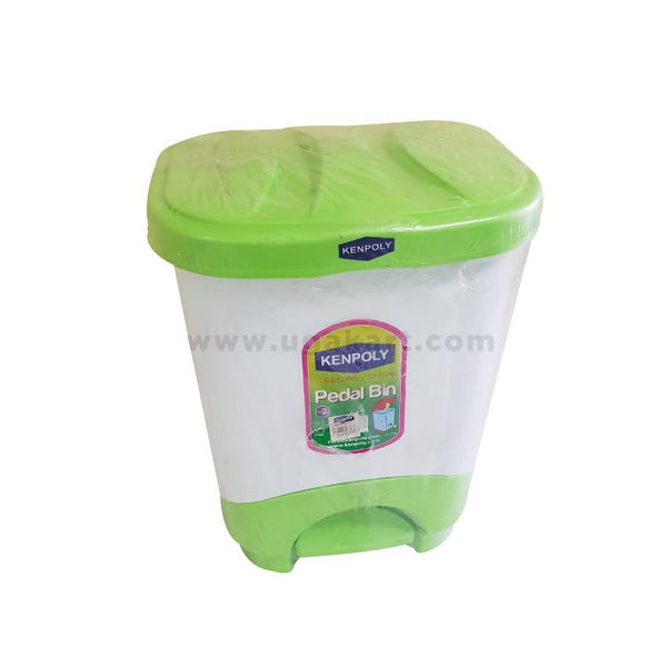 Kenpoly Pedal Bin - White and Green