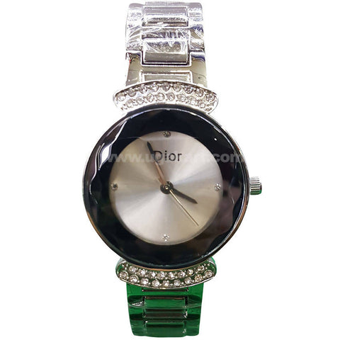 Dior Black & Silver Stainless Steel Strap Women's Watch
