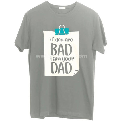 Men's Grey Thought Printed T-Shirt (Size: S,M,L,XL)
