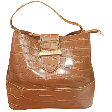Brown Ladies Hand Bag