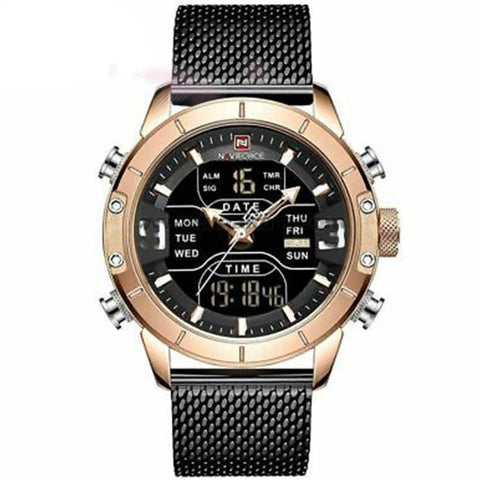 NAVIFORCE Men's Stainless Steel Watch Black