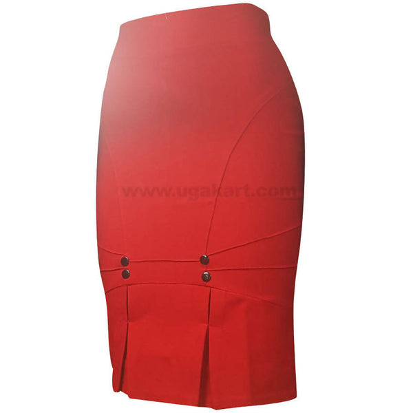 Orange Ladies Skirt with Bottom Design (Size : S,M,L,XL)