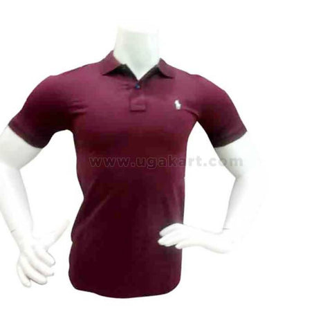 Maroon Polo Tshirt For Mens