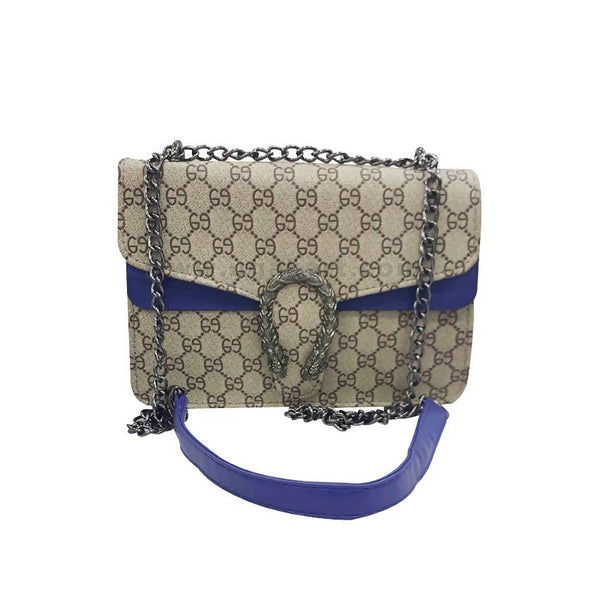 Brown and Blue Touch Womens Cross Bag