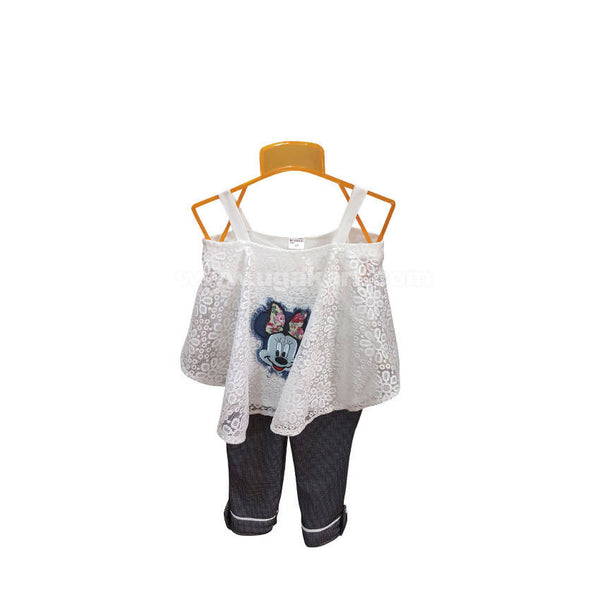 Sleeveless Top And Pant For Girl_3 to 8 yr