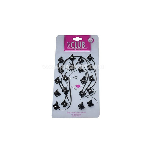 Black Butterfly Designed Hair Club Lead - 20 Pack