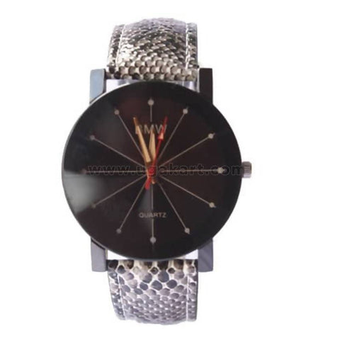 Ladies' Animal Print Leather Quartz Watch