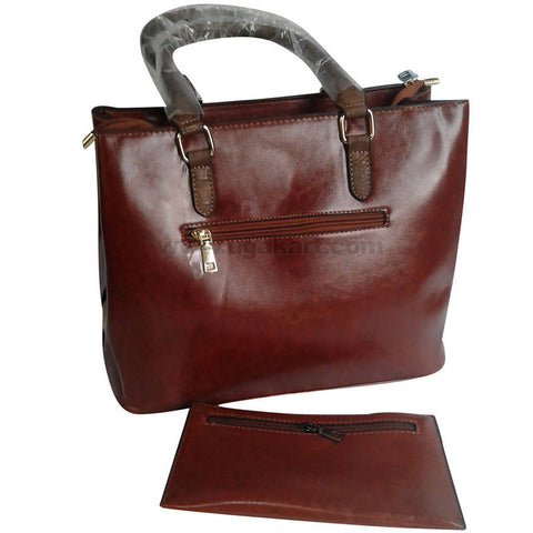 Coffee Brown With Brown Hand Bag Set of 2