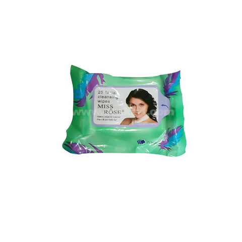 Miss Rose Facial Cleaning 25 Wipes Green_2pc