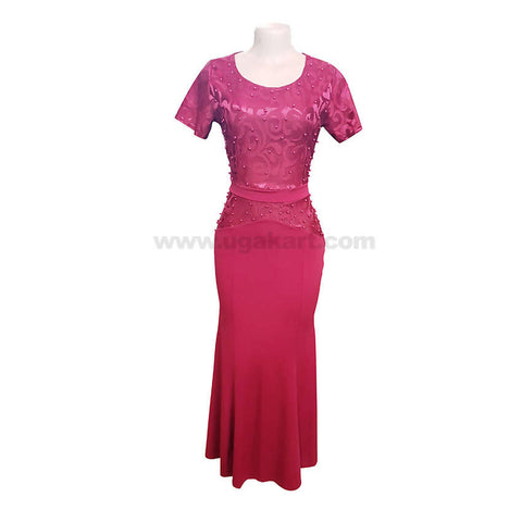 Long Party Wear Dresses In Mahroon,Peach,White,Blue,Neviblue-Size L,XL,XXL