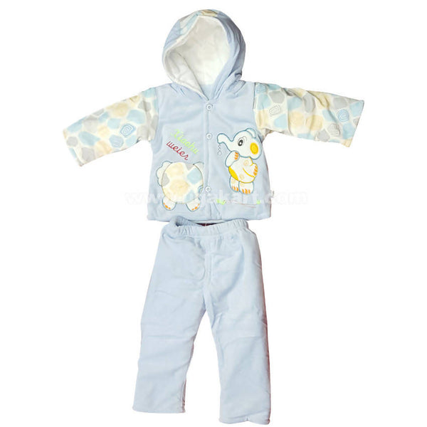 Light Blue Color Night Dress For Kids 0 to 6 months