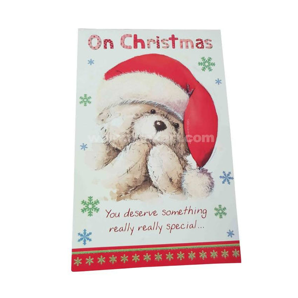 On Christmas Greeting Card_Teddy