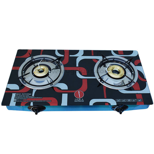 IQRA GAS Stove_Glass Material_2 Burners_IQ-GS2B-G