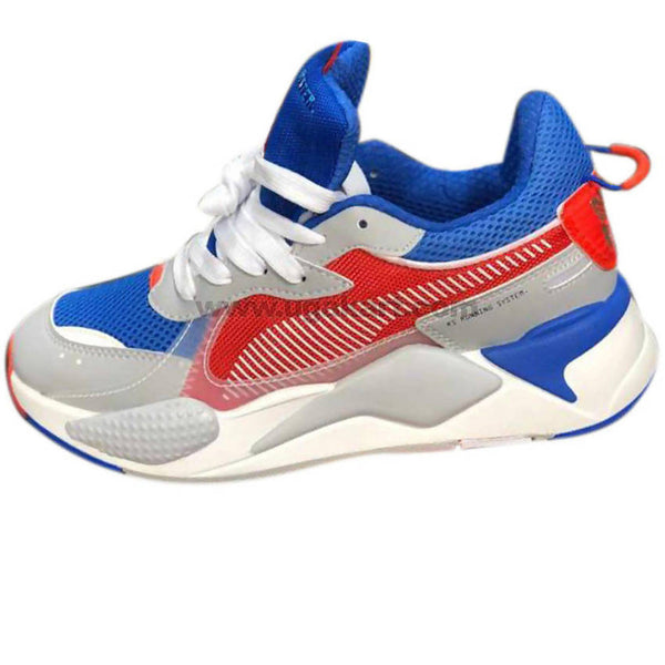 Men's White, Red & Blue Sneakers