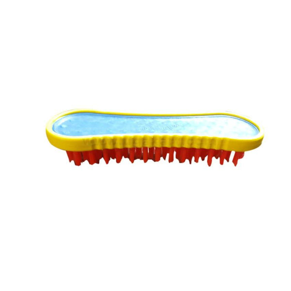 Red And Yellow Scrubbing Brush