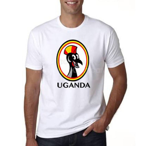 Uganda Crane Toon Men's T-Shirt - White