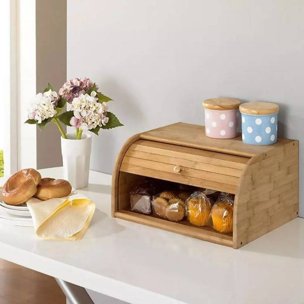 Bamboo Bread Holder Food Storage Container