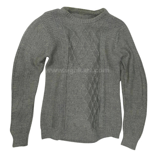 Light Grey Rounded Neck Sweater For Mens XL
