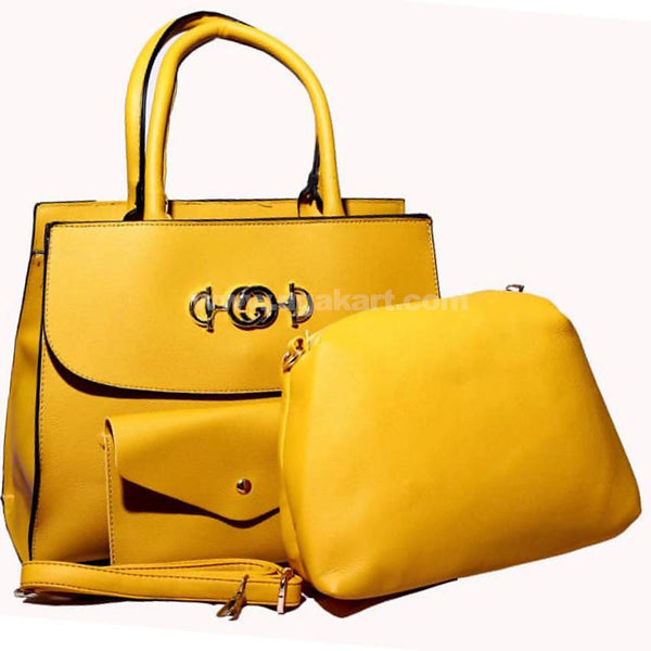 CG Yellow Hand Bag Set of 3