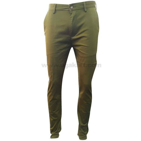 Fleecy Green Casual Trouser For Mens