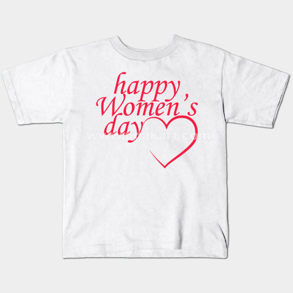 Women's Day Printed White T-Shirt