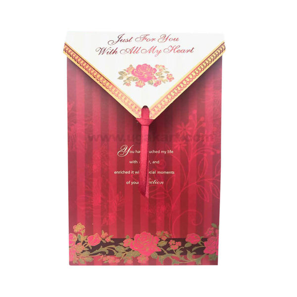 VALENTINE CARD_ JUST FOR YOU