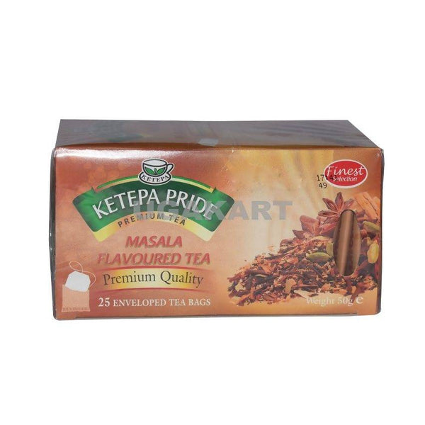 Ketepa Pride Masala Flavoured Tea(25 Enveloped Tea Bags) 50Gm