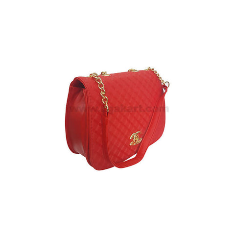 CG Red Hand Bag For Women's