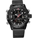 NAVIFORCE Men's Black Stainless Steel Watch