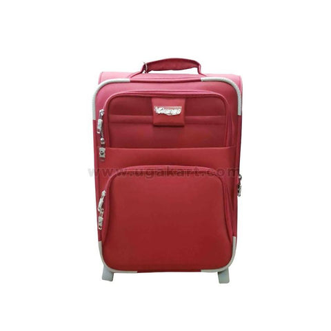 Red & White Strips Suit Case (Trolly Bag) (Small Size)