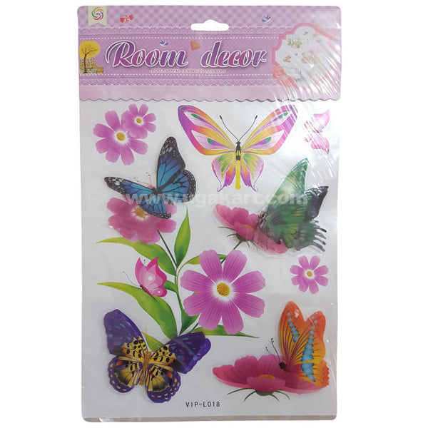 Room Decor Butterfly and Flower Wall Stickers