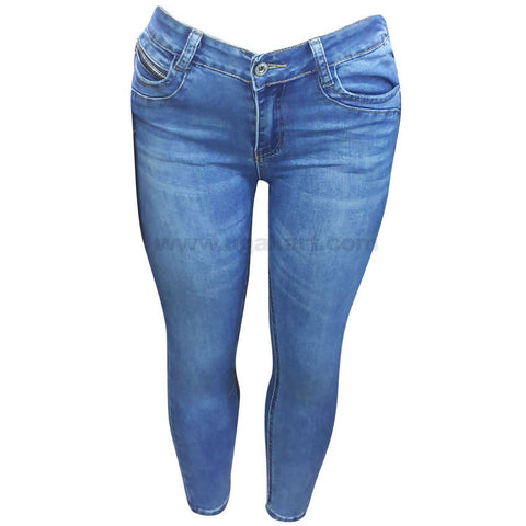 Women's Faded Blue Jean