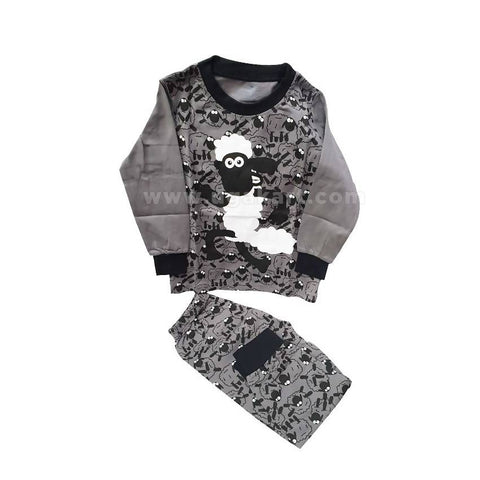 2 Piece Grey And Black Kids Dress