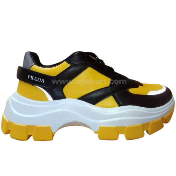 Prada Yellow, White & Black Sneaker