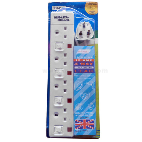 Best Astra England 4 Way 13amp Extension
