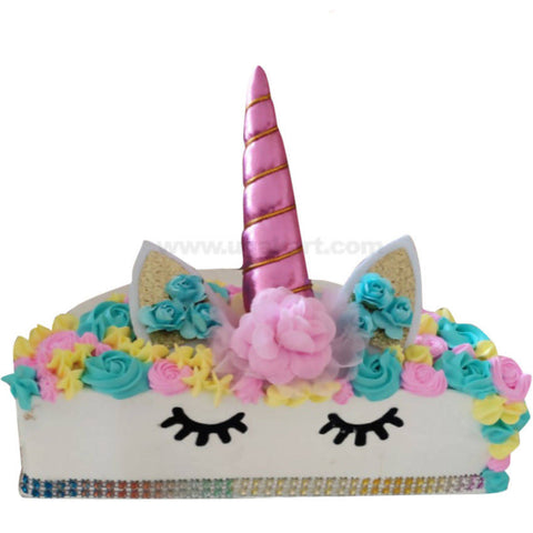 Unicorn Theme Cake (Without Egg) 2Kg