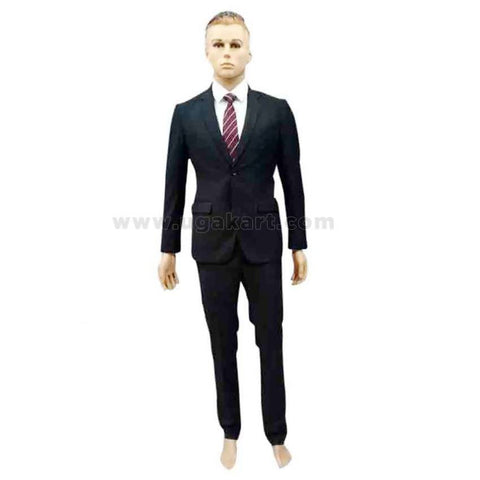 Black Mens Suit With White Shirt And Tie