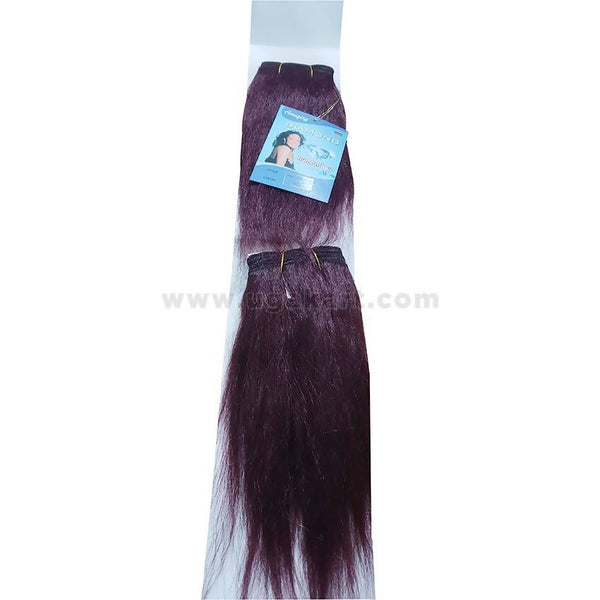 Human Hair Weave-Maroon -2 Pc With 8 Inch