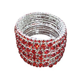 Ladies Stretch Red Giltter Bangle
