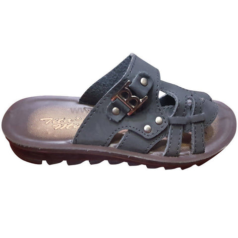 Tita Black Open Shoes For Boys