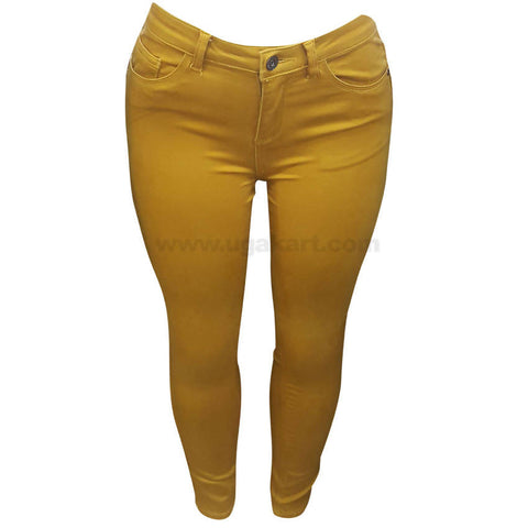 Women's Yellow Skinny Chino Pant