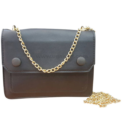 Black Womes Wallet with Golden Chain