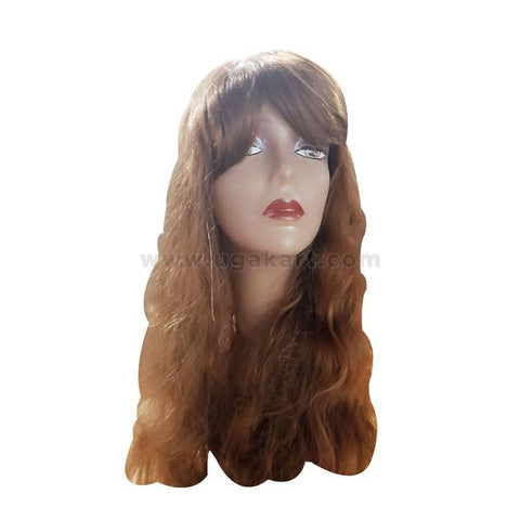 Human Hair Wig- Light Brown