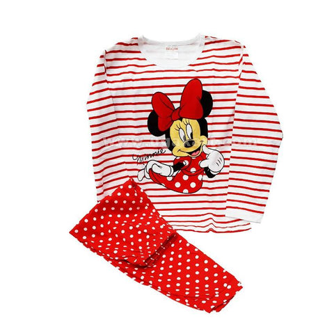 2 Piece Minnie Print Kids Dress