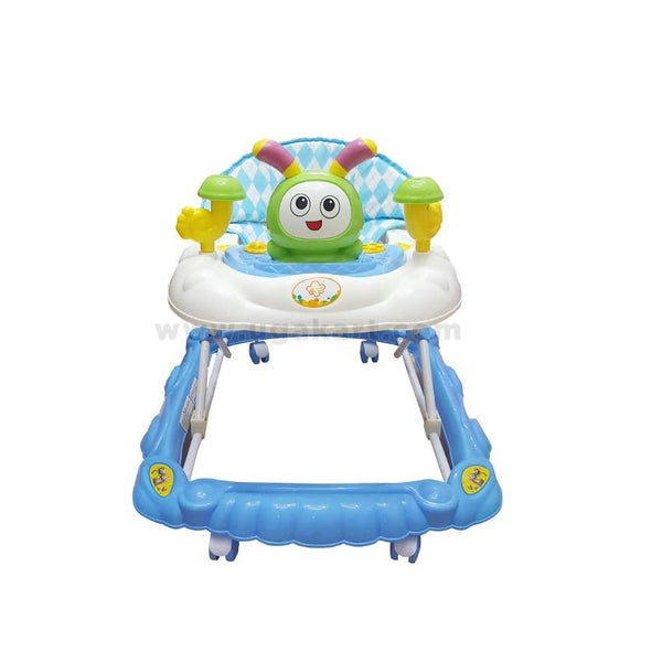 White And Blue Baby Walker