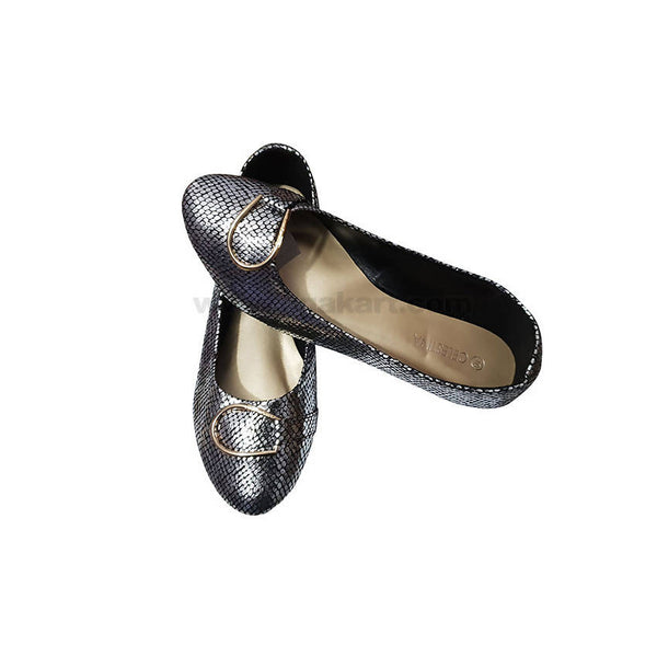 Celestina Ballet Flat PUMPS For Women-SILVER