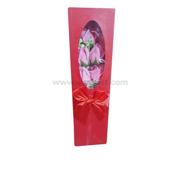 Artifical Pink Rose With Gift box